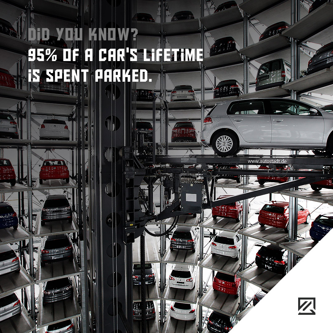 95% of a car's lifetime is spent parked. MILTA Technology