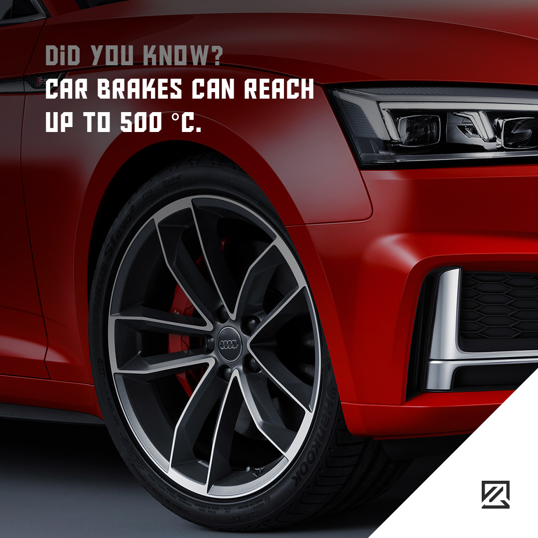 Car Brakes Can Reach Up To 500 °C. MILTA Technology