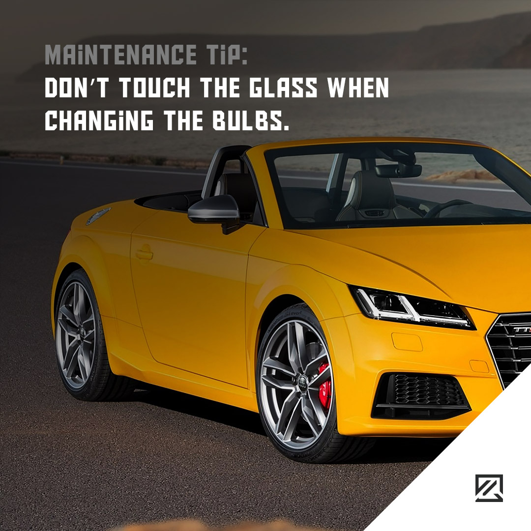 Don't touch the glass when changing the bulbs. MILTA Technology