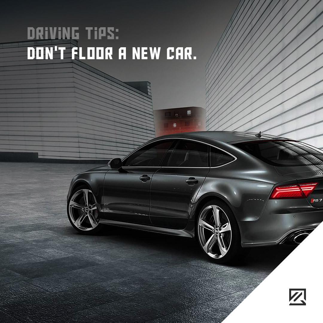 Don't floor a new car. MILTA Technology