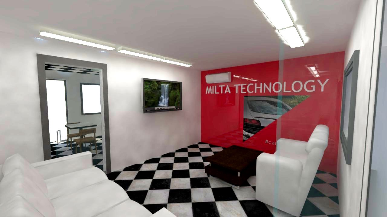 milta technology - customer leasure and resting space on site in Bristol 8