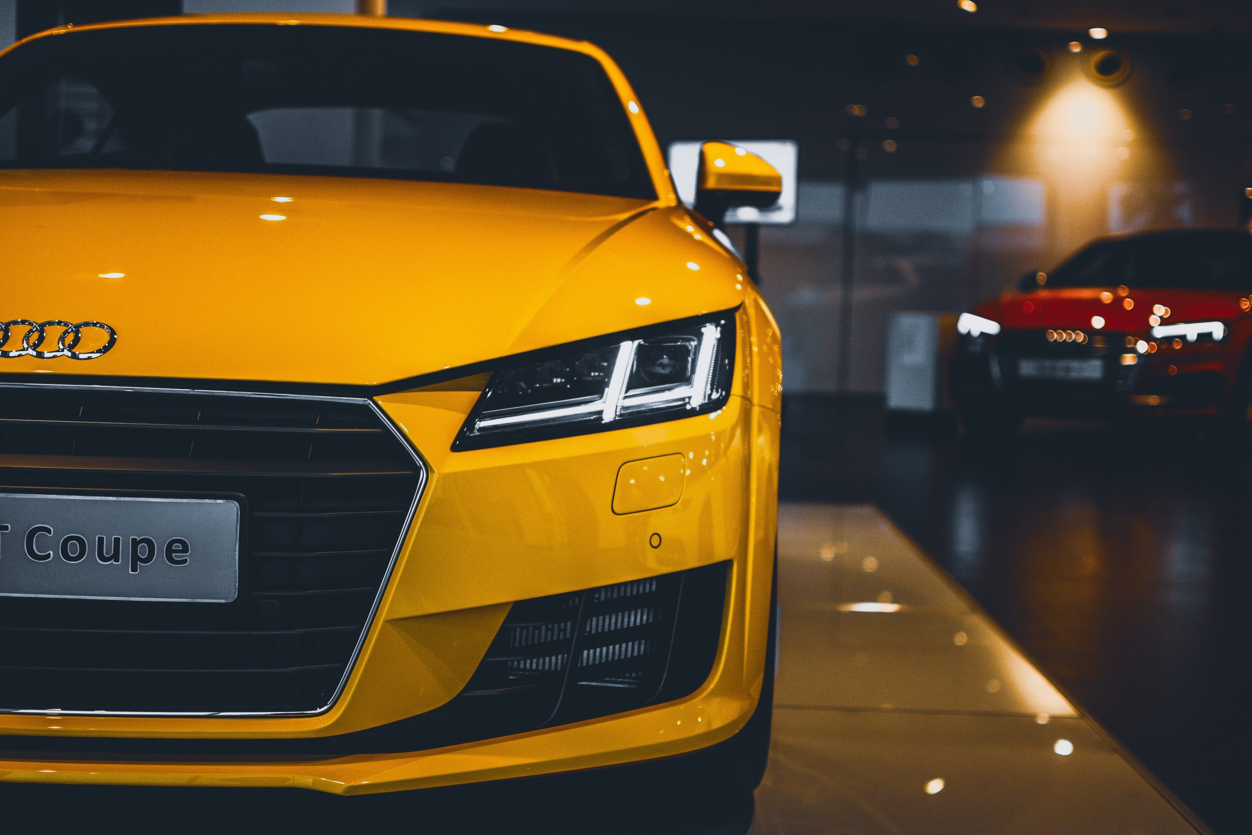 Audi TT yellow super car